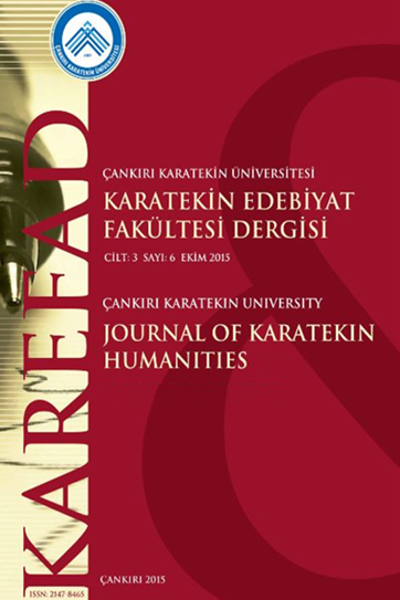 Cankiri Karatekin University Journal of Faculty of Letters