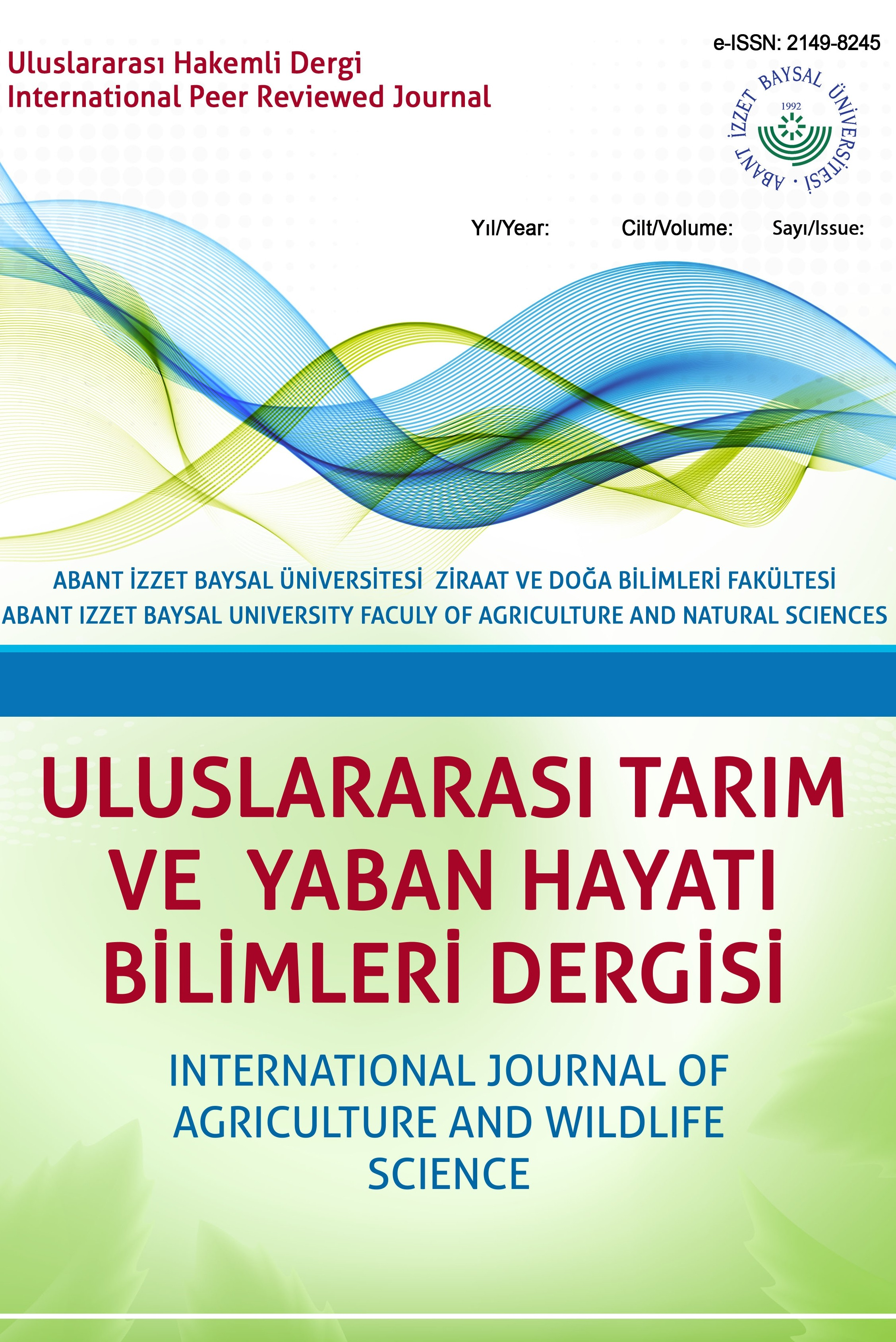 International Journal of Agricultural and Wildlife Sciences