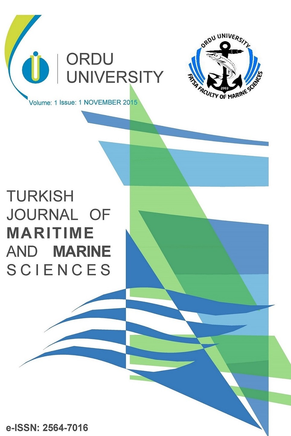 Turkish Journal of Maritime and Marine Sciences