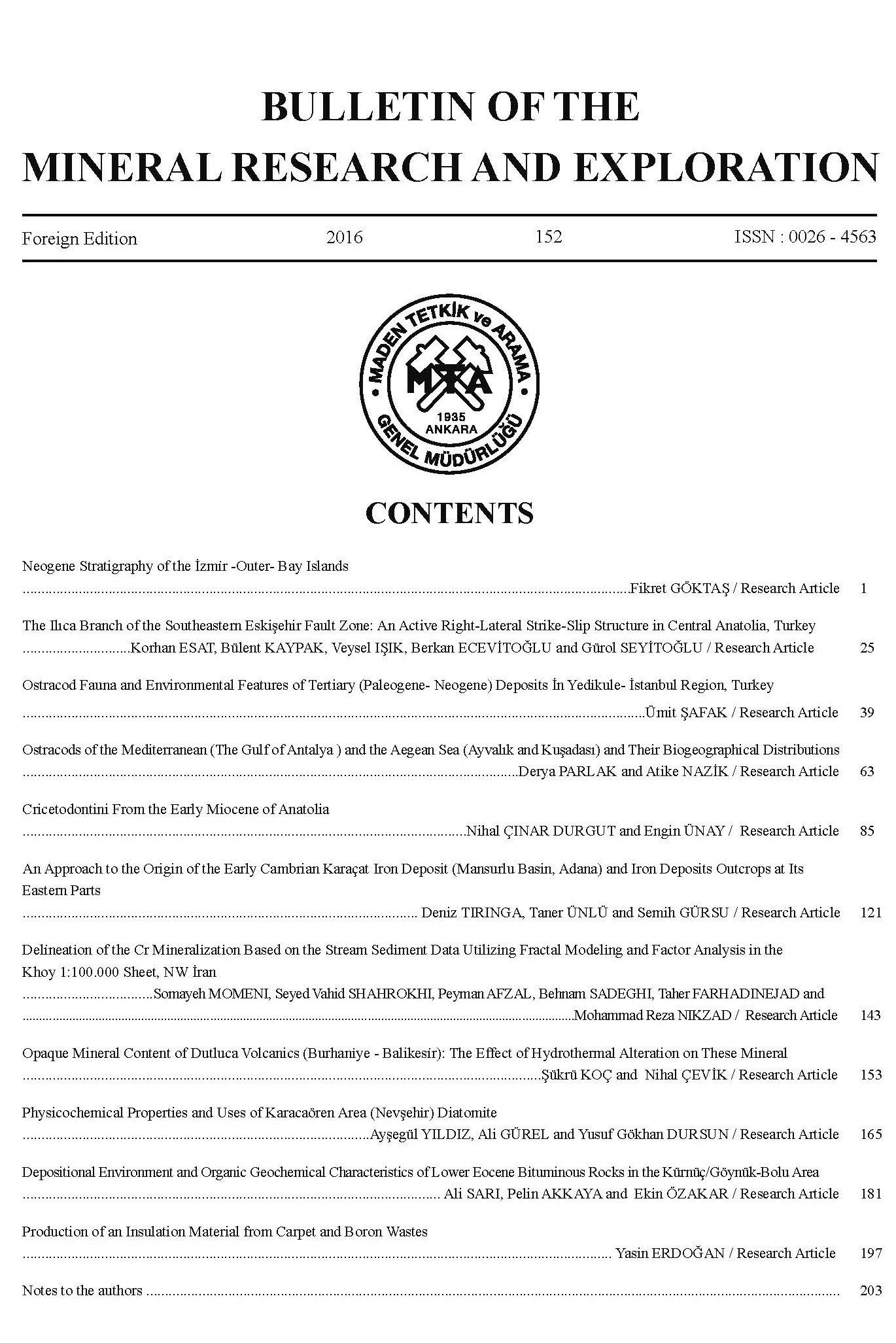 Maden Tetkik ve Arama Dergisi